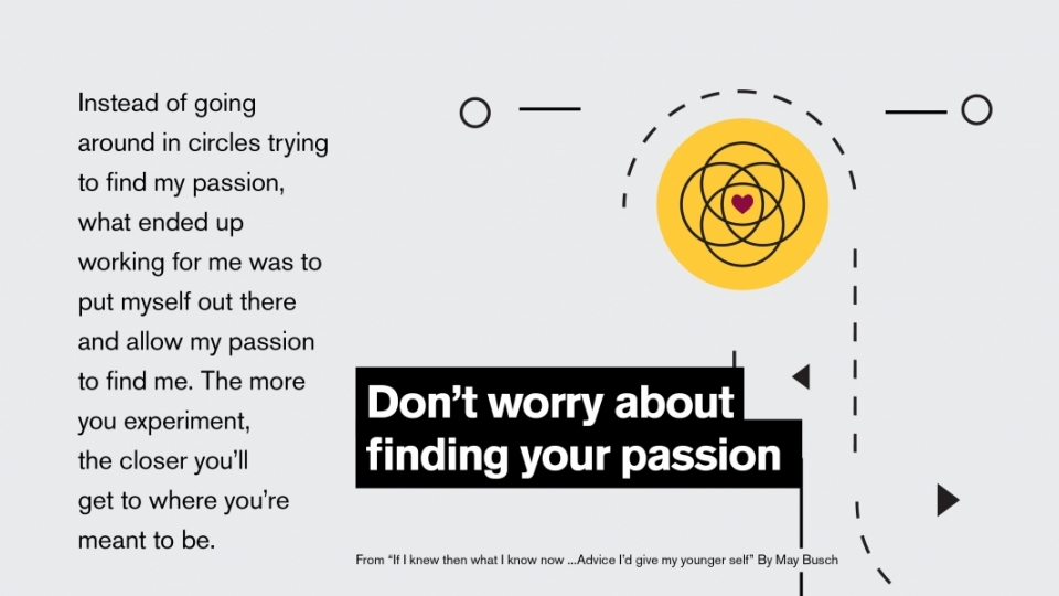 Infographic on finding your passion