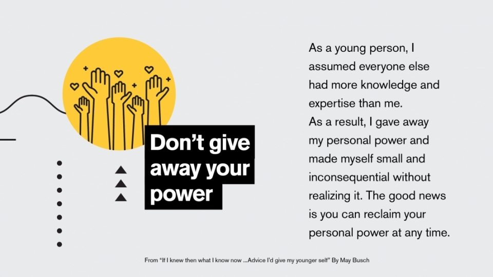 Infographic on not giving away your power