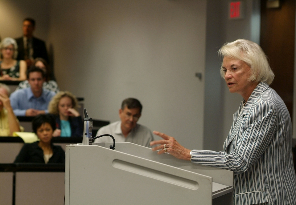 Sandra Day O'Connor giving a lecture at ASU