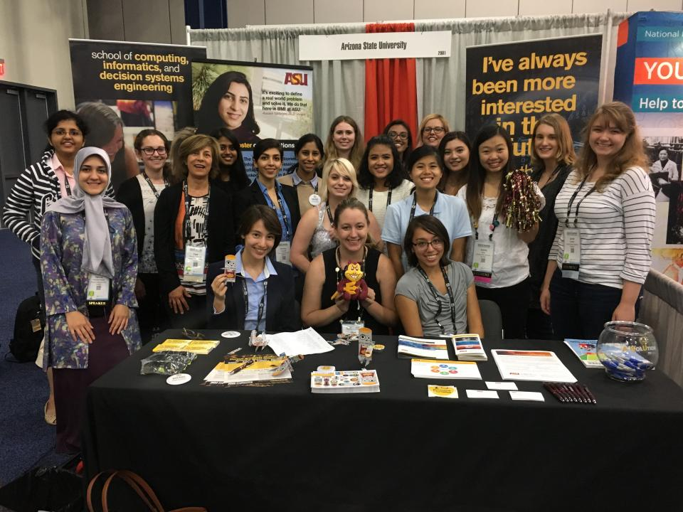 ASU students at Grace Hopper conference