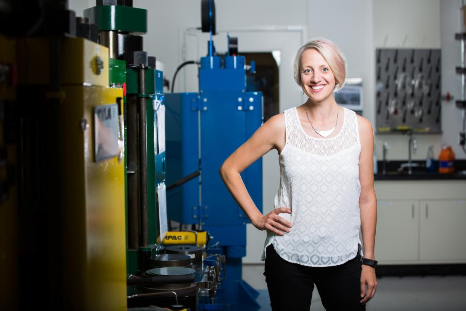 ASU Assistant Professor Christy Till in her lab