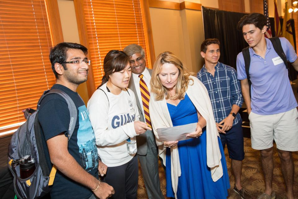Gerri Martin-Flickinger speaks with ASU students
