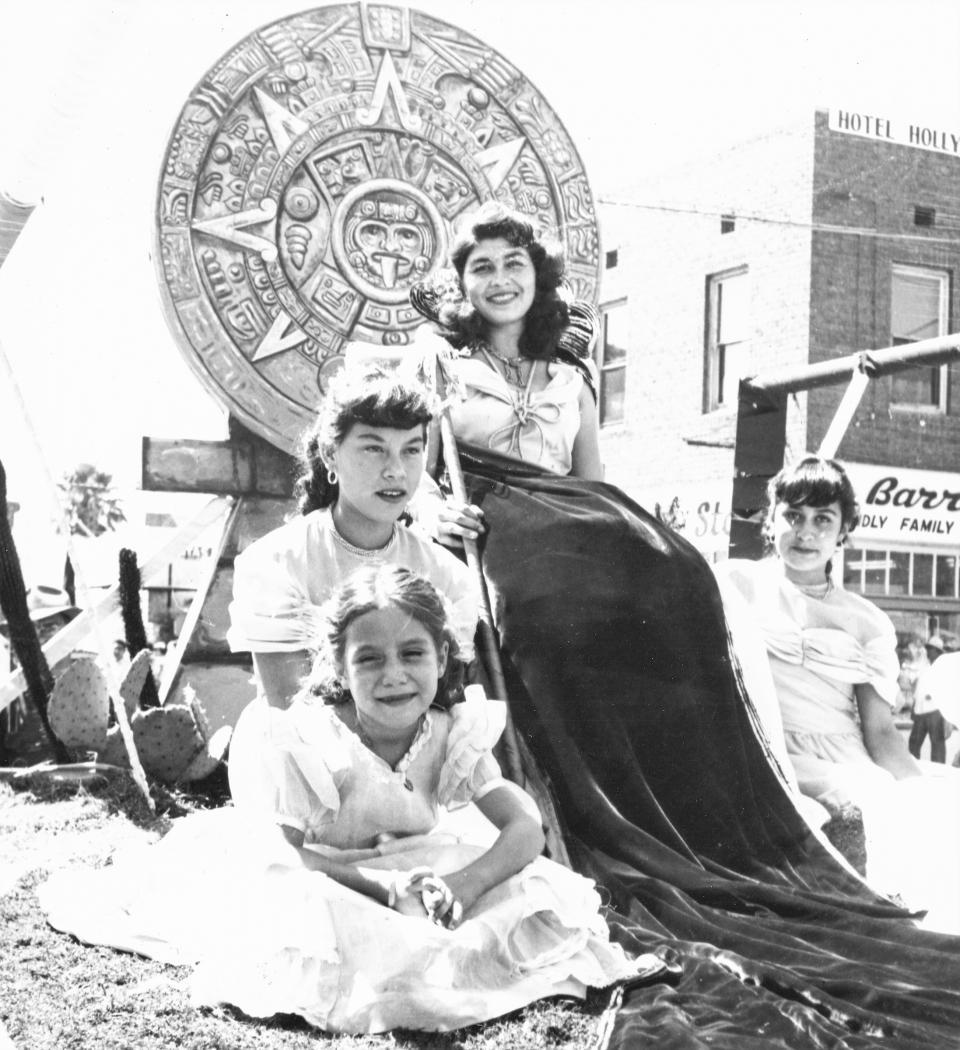 Fiestas Patrias queens in midcentury Phoenix