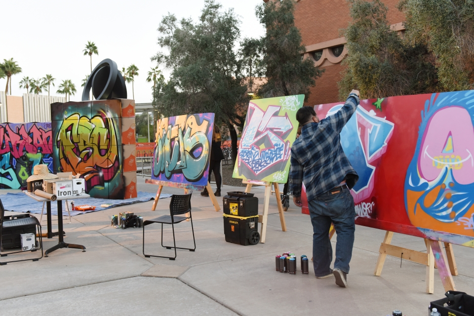 Graffiti art at Urban Sol 2018