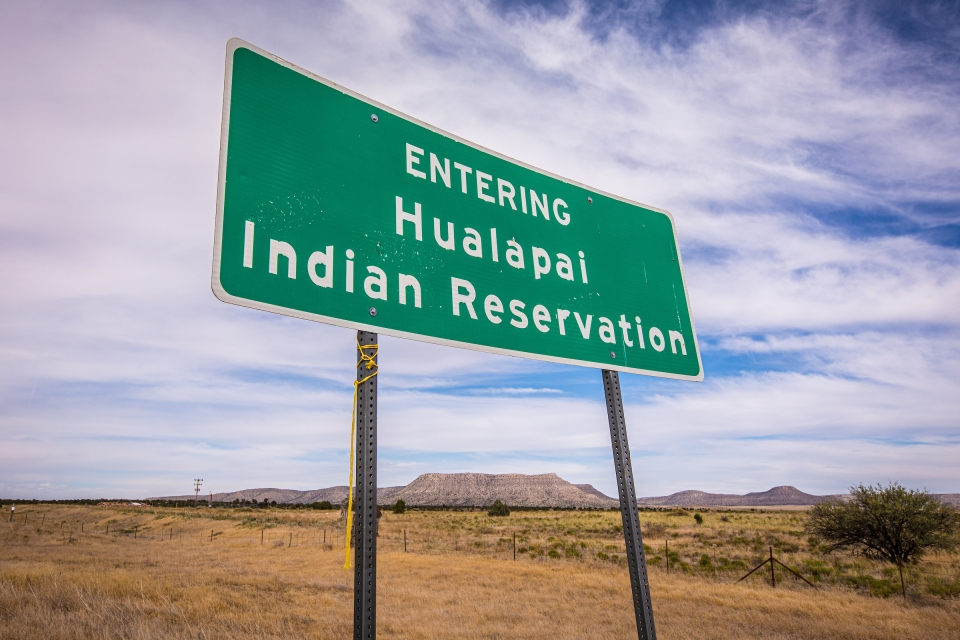 Hualapai Reservation sign