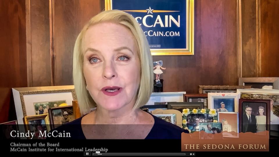 Cindy McCain at Sedona Forum