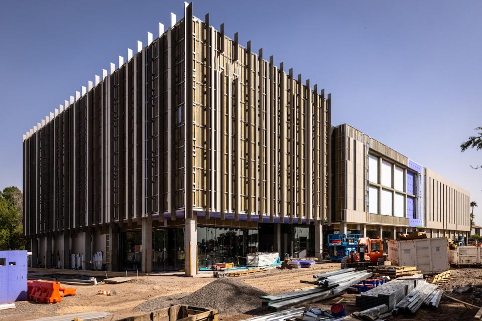 ASU at Mesa City Center building under construction.