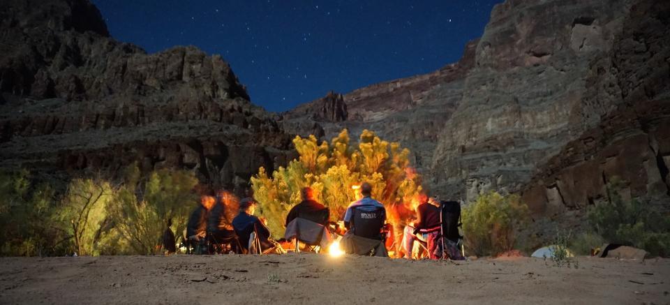 Colorado River night camp