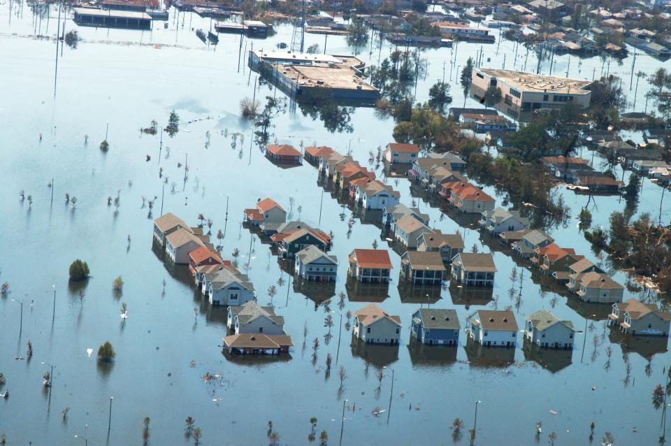 Aftermath of Hurricane Katrina in Louisiana