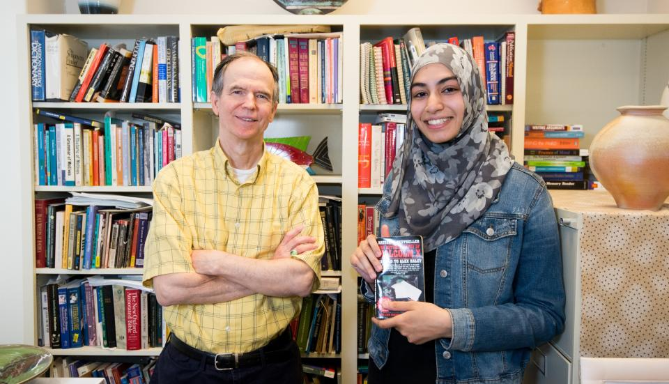 ASU English professor Keith Miller and pre-dental student Sarah Syed
