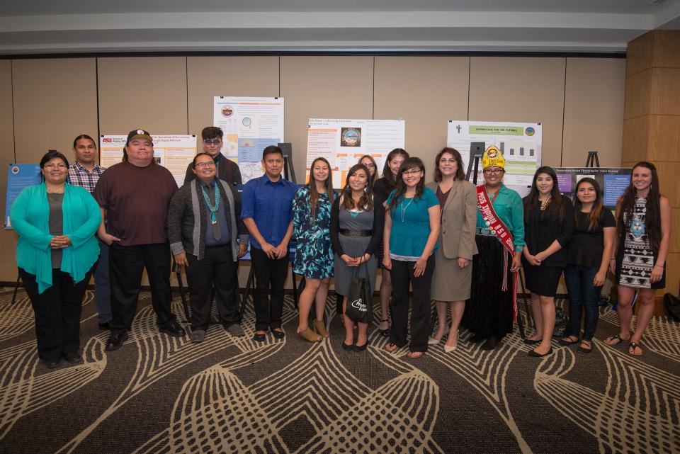 ASU student participants in 2017 Creating Visions for Future Nations poster symposium