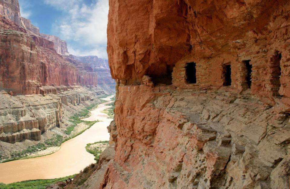 Anasazi granaries Nankoweap Gran Canyon
