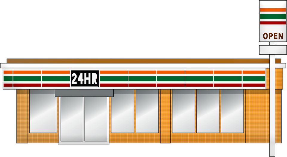 sketch of a convenience store