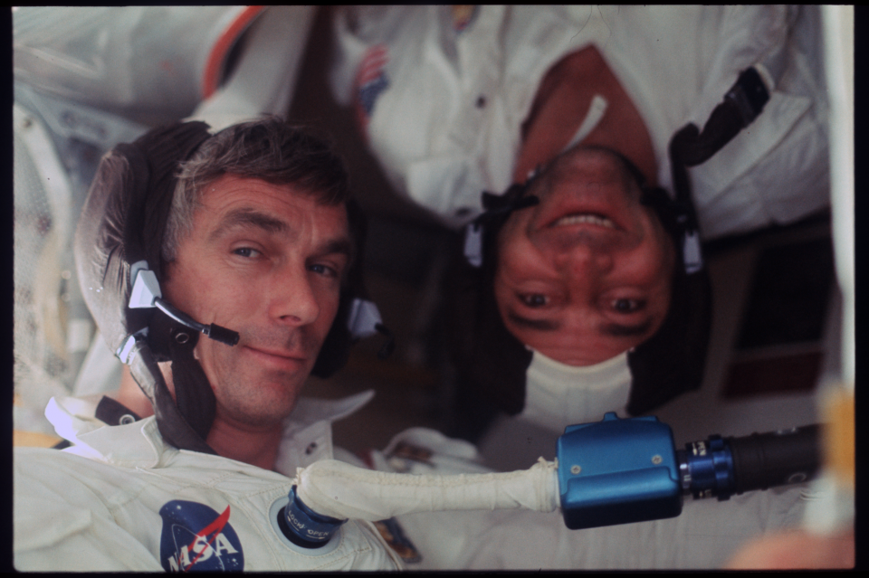 Astronauts Cernan and Evans on Apollo 17