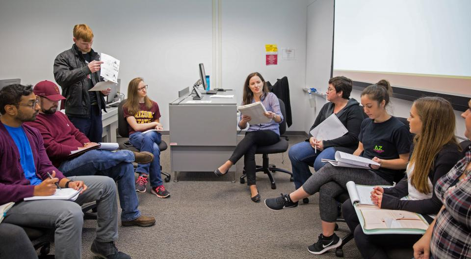 ASU professor Tatiana Batova and students in User Experience (UX) course at the Polytechnic campus