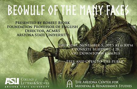 Beowulf of the Many Faces lecture announcement
