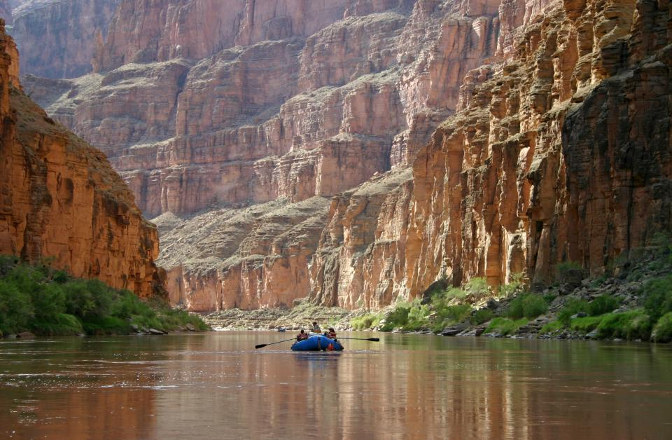 Calm boating Colorado Grand Canyon