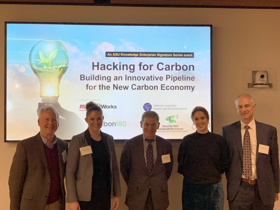 Carbon economy panel discuss ASU Washington DC