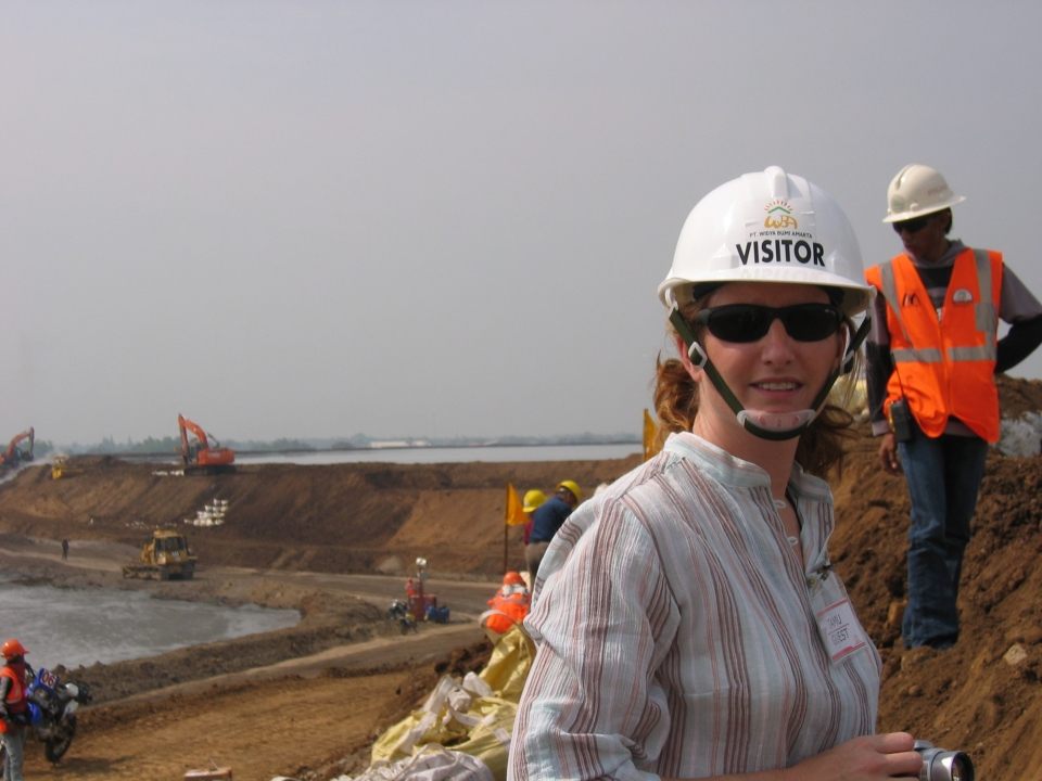 Geologist Amanda Clarke in Indonesia