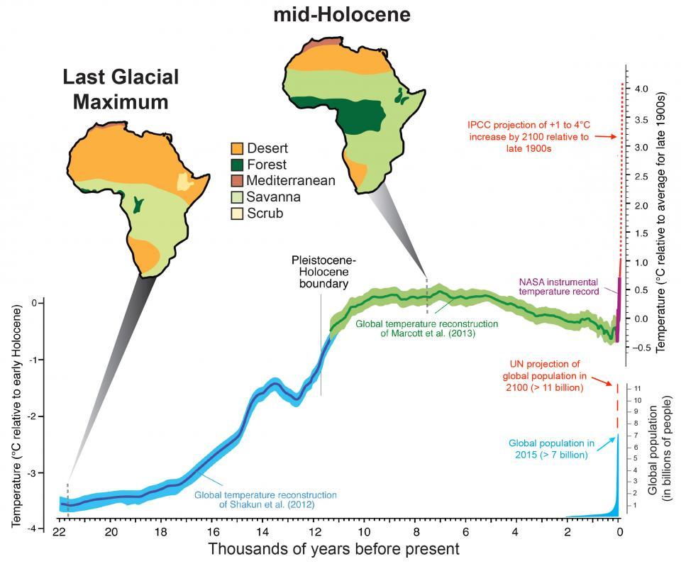 Climate records and mammal communities