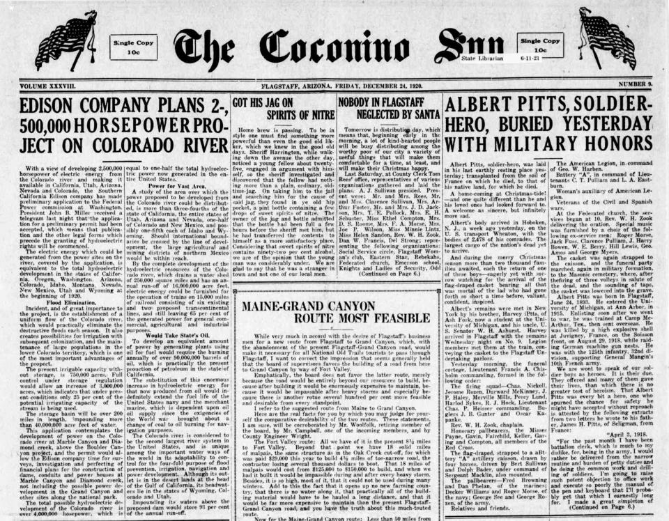 Coconino Sun: Pitts is buried