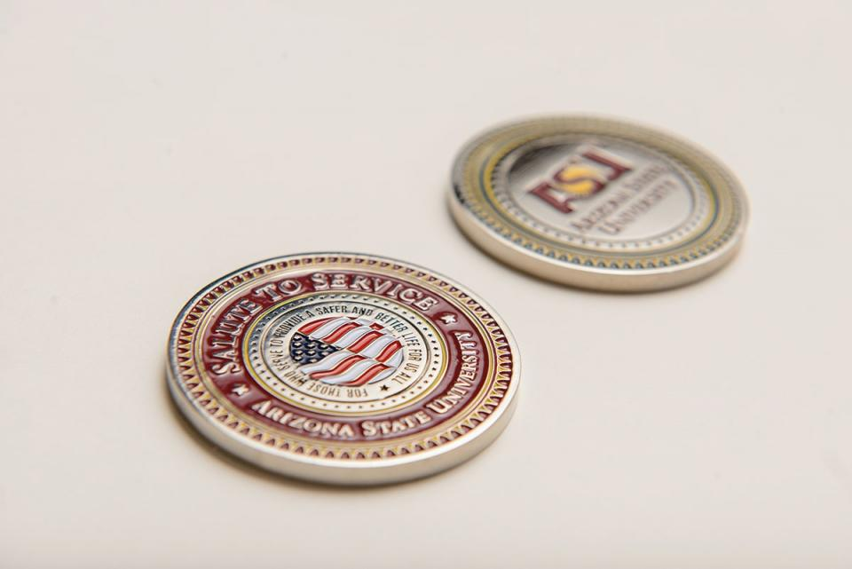 """ASU's Salute to Service """"Challenge Coin"""""""
