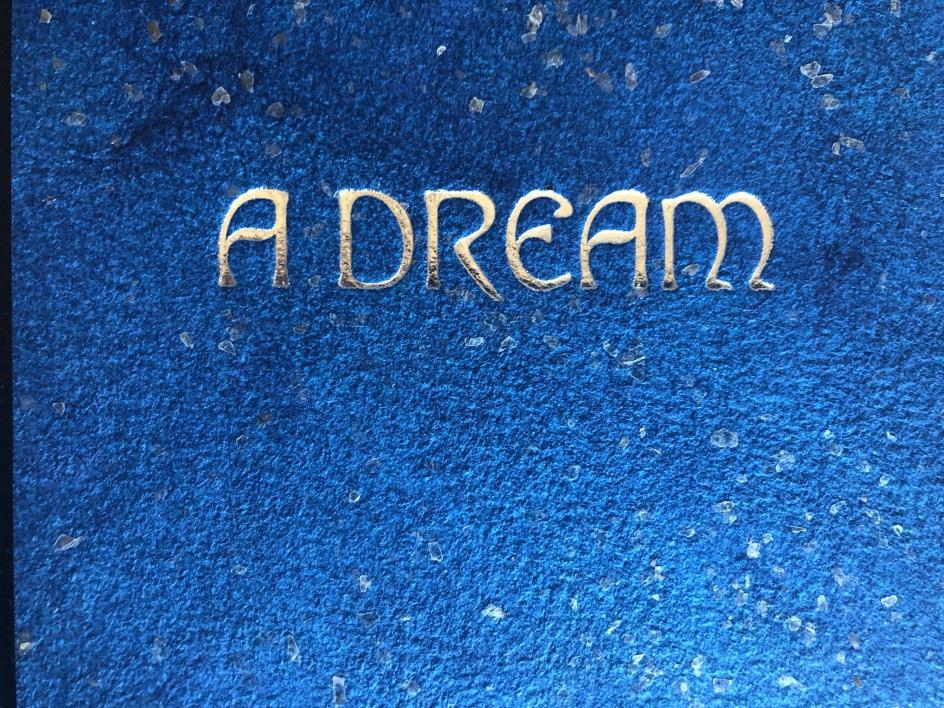 "Close-up of the cover of ""A Dream: Selected Poems"" by Abramek Koplowicz, designed and illustrated by Kelly Houle, 2019. / Courtesy photo"