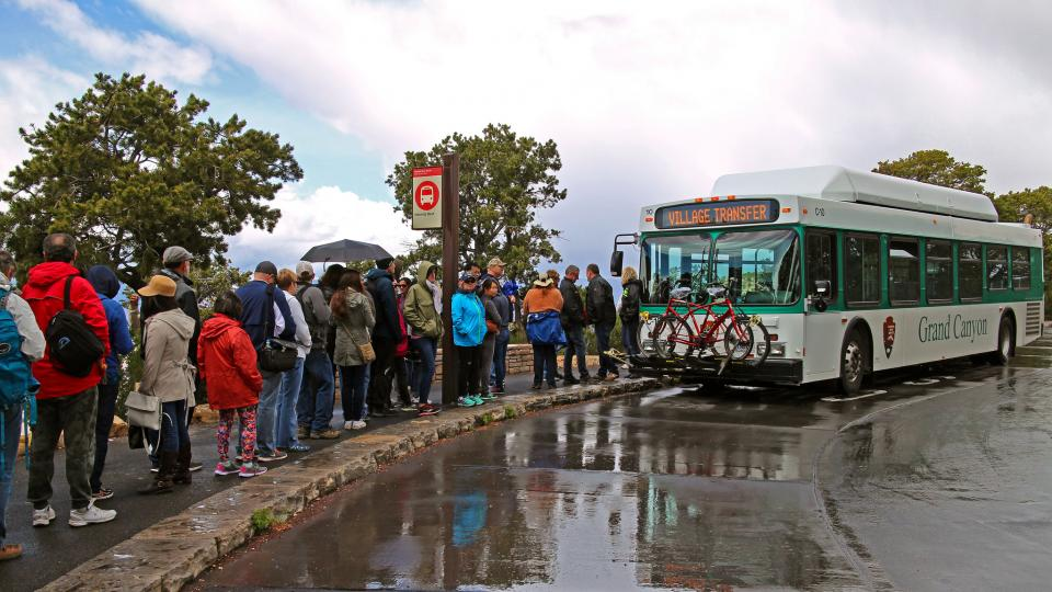 Crowd and Shuttle