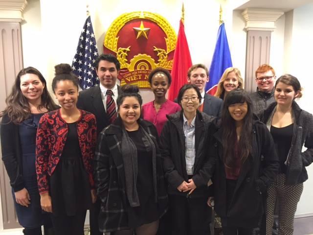 A photograph of spring 2016 Washington Policy Design Studio students