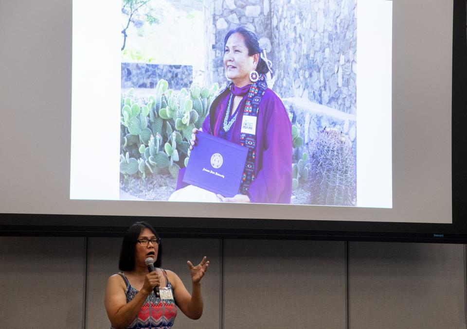 After graduating with a master's degree in tribal leadership and governance from The College's American Indian studies program, Trudie Jackson wants to help others do the same.