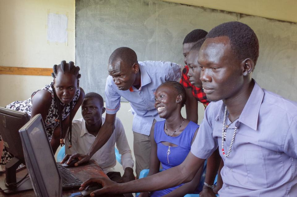 Young people in Uganda take courses through Education for Humanity