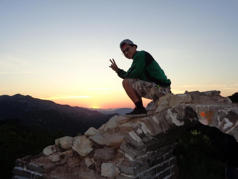 ASU student Jesus Mena Salas on Great Wall of China