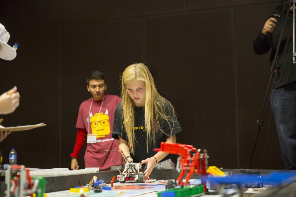 student competing in the Arizona FIRST LEGO League