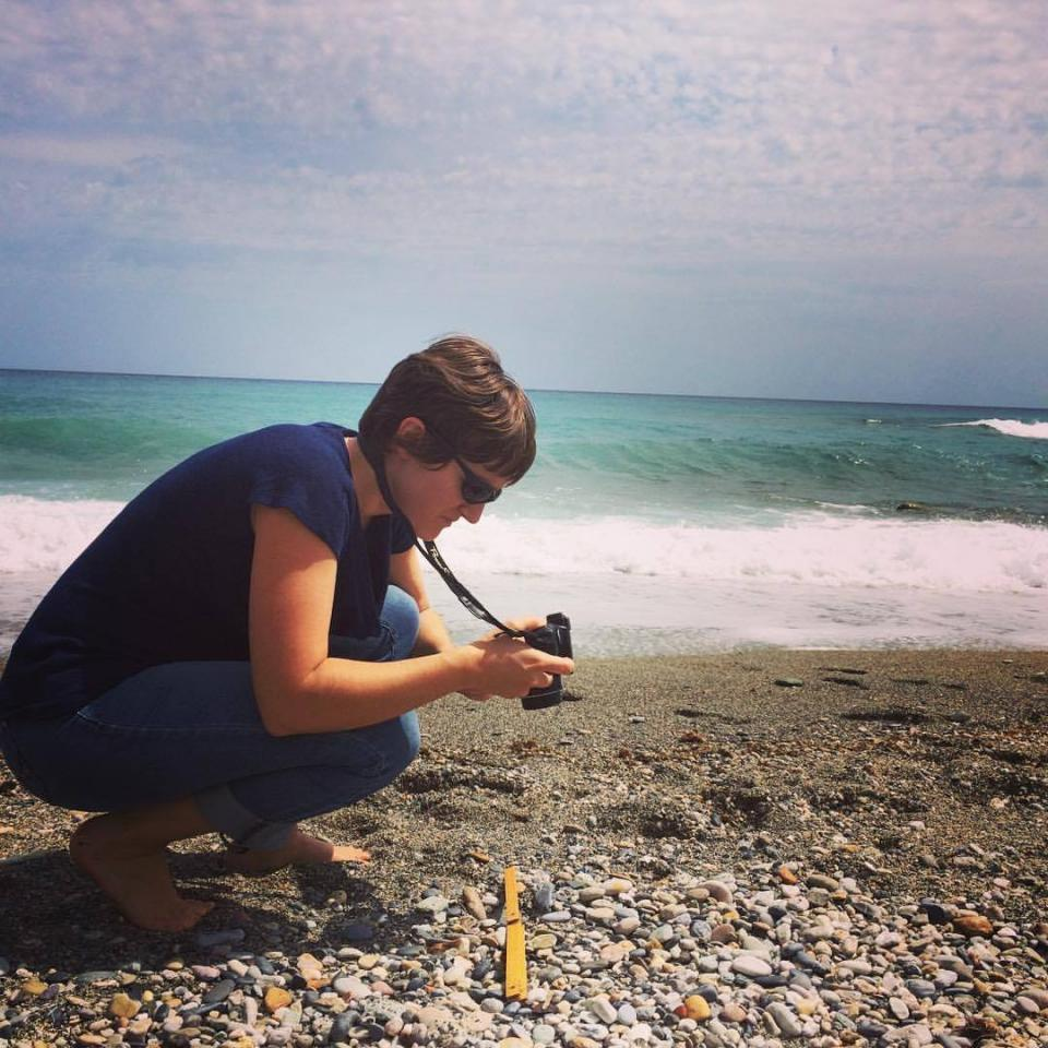 photo of Gravel-Miguel photographing pebbles on the beach