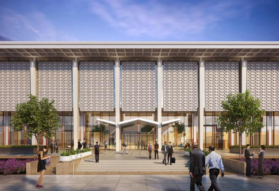 Hayden Library redesign exterior