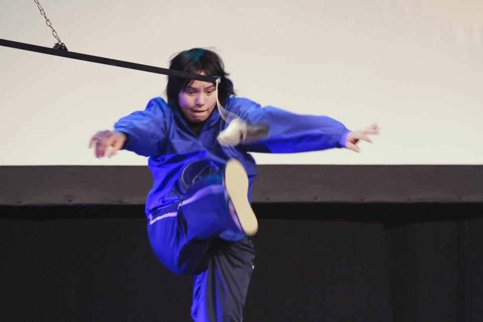 person performing high kick