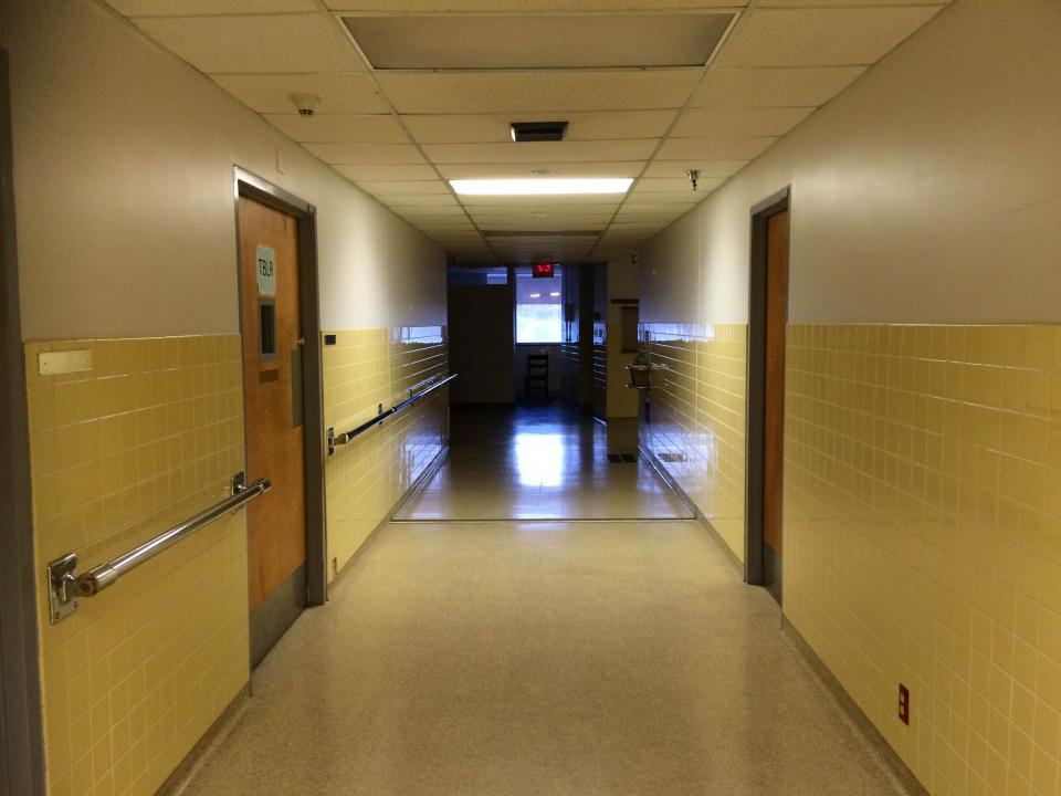 hallway of Community Services Building