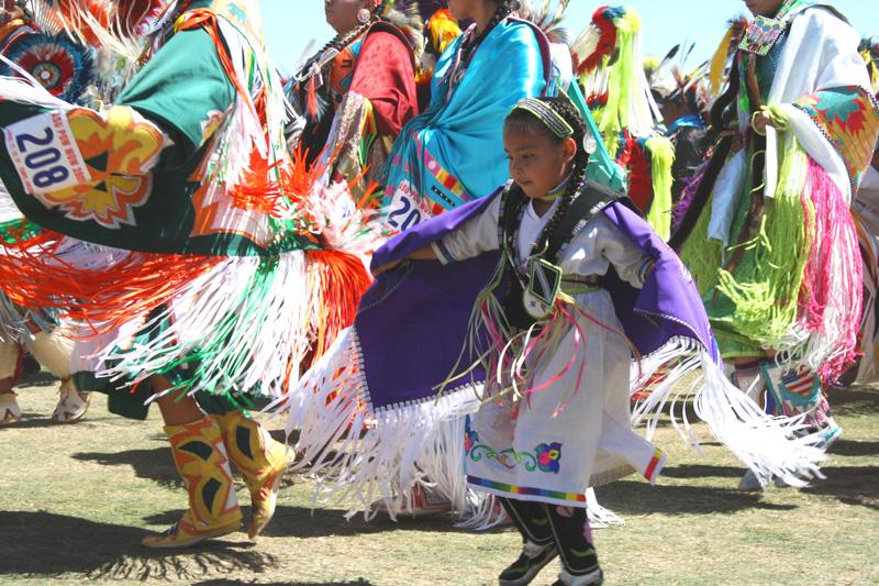 girl dancing in powwow