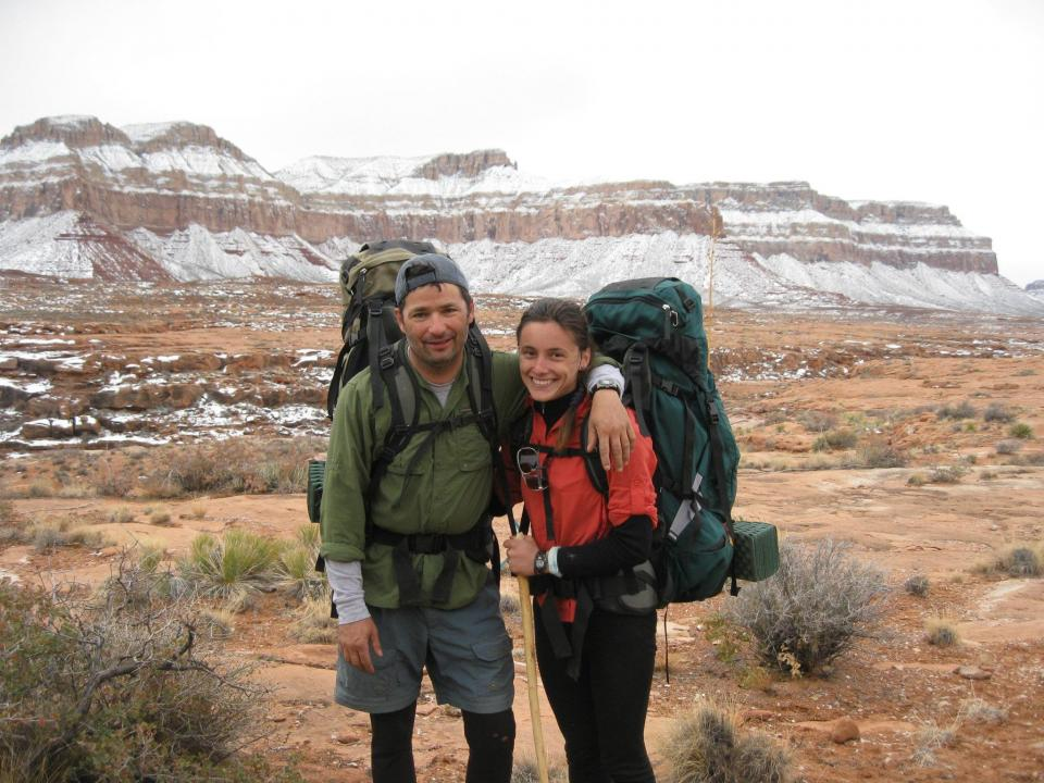 Andrew Holycross and Ioana Hociota in Grand Canyon