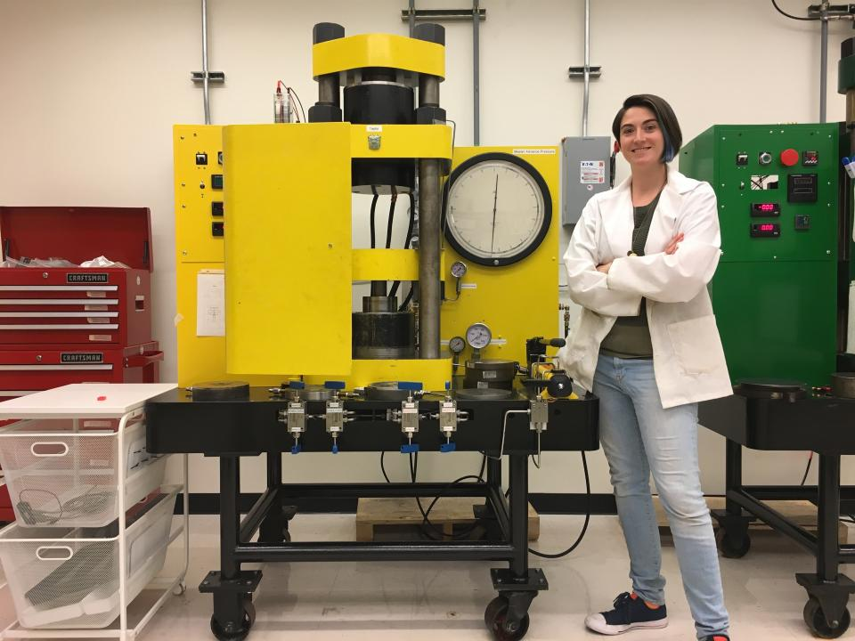 ASU postdoc Kayla Iacovino in the EPIC lab