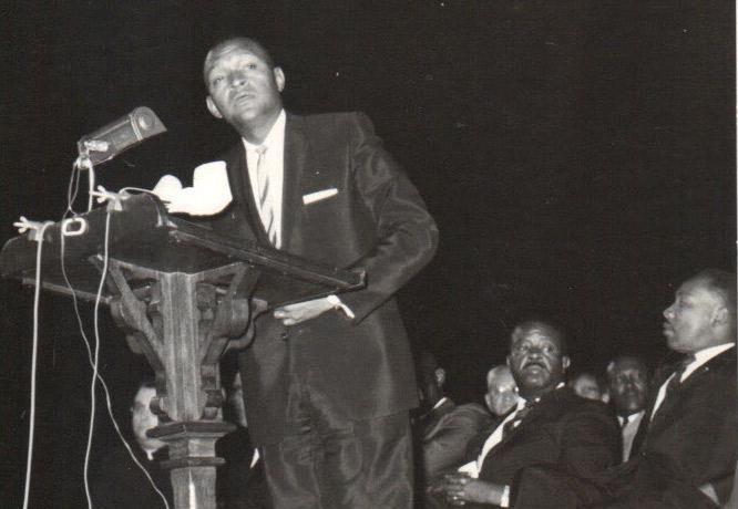 Man at a podium