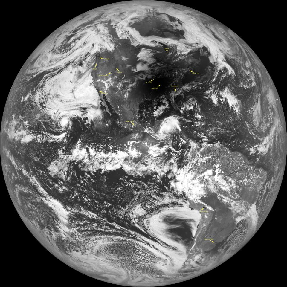 View of Earth during solar eclipse taken by LRO camera