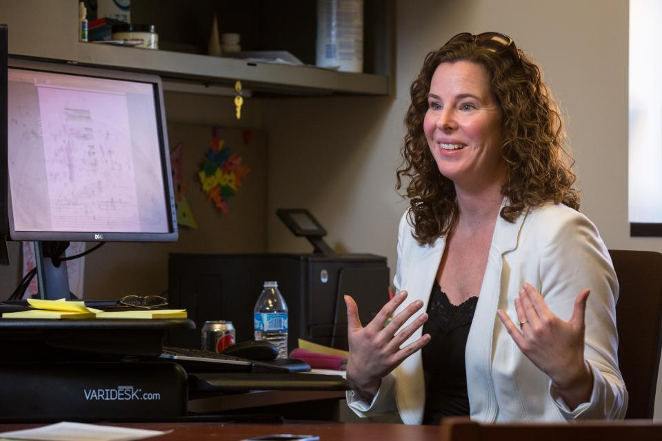 ASU assistant professor Madeline Meier in her office.