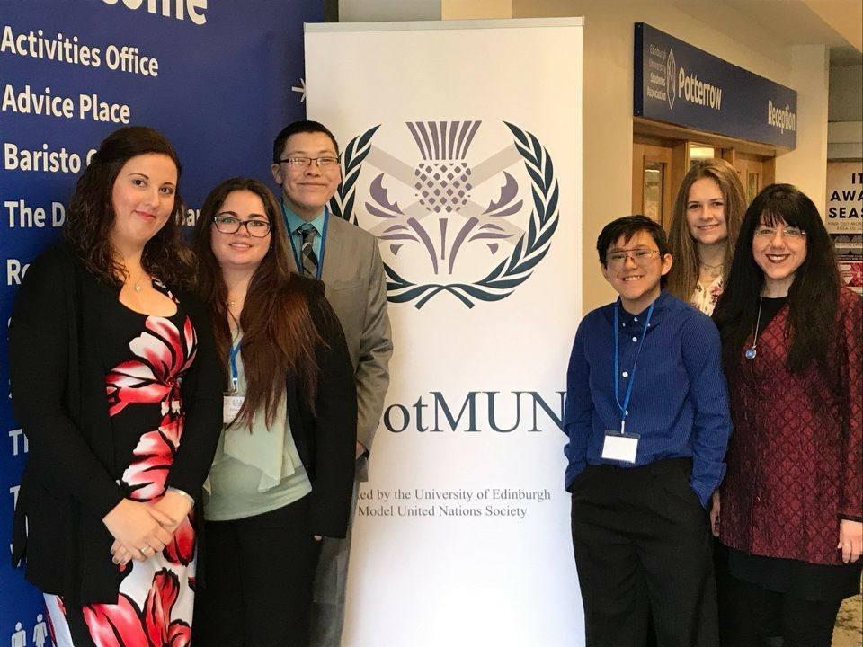 Centeno's Model UN Team in Scotland