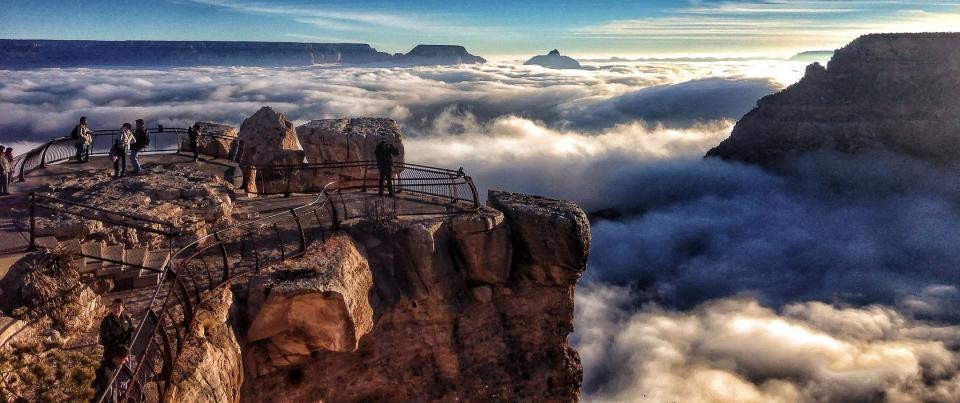 Mather Point inversion Grand Canyon