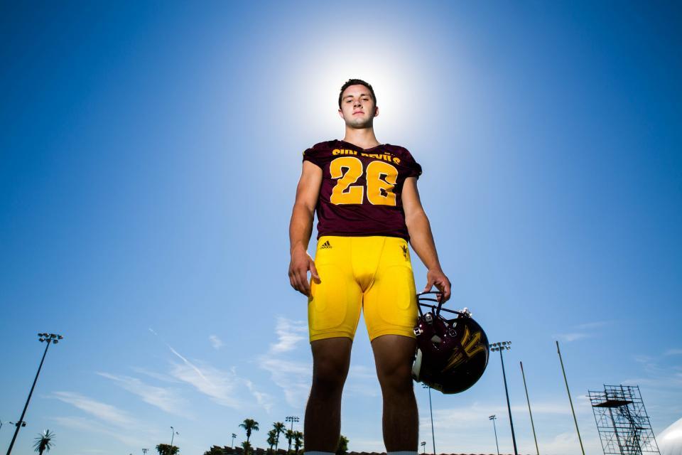Football player in uniform