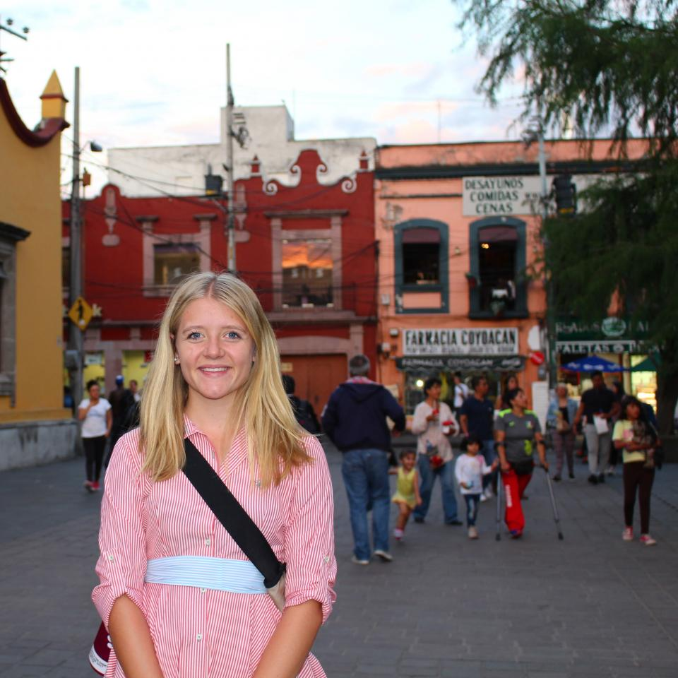 ASU student Mia Armstrong during her study abroad