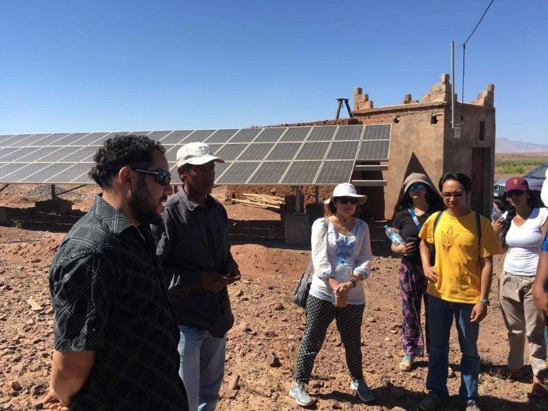 Touring a solar installation