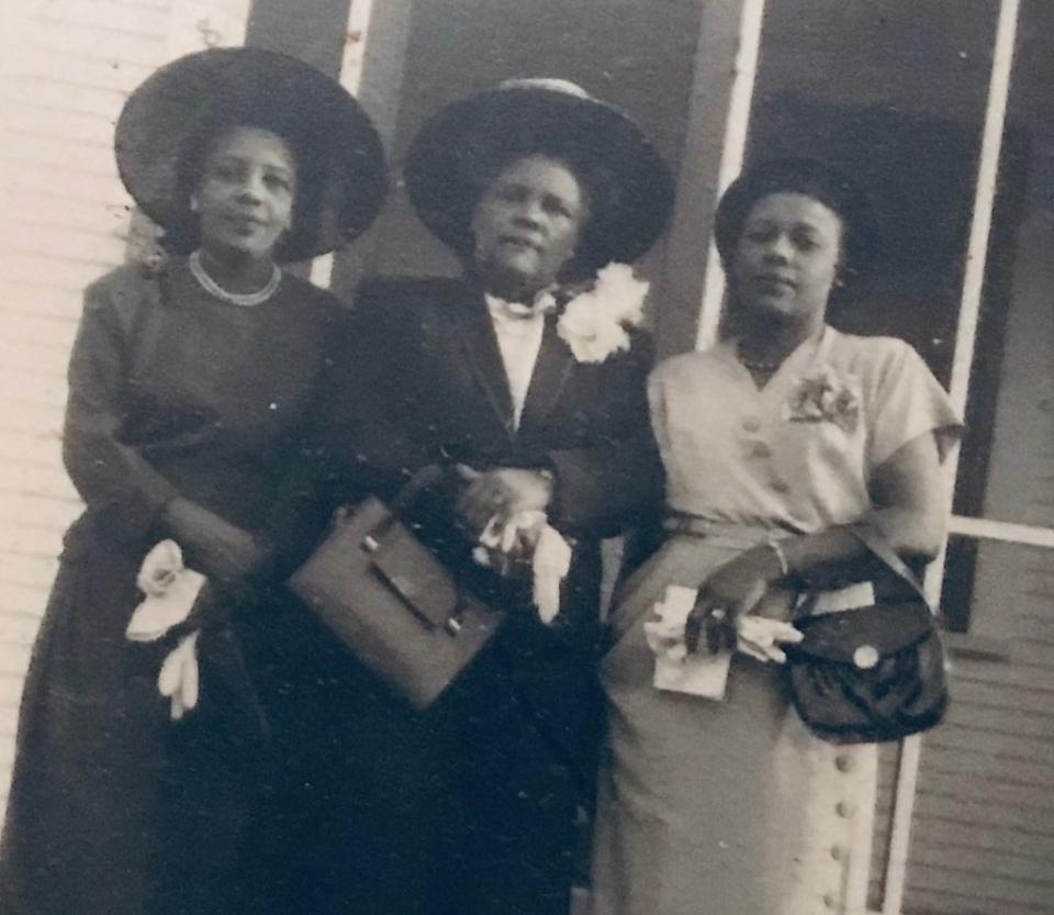 historical photo of three Black women circa 1935