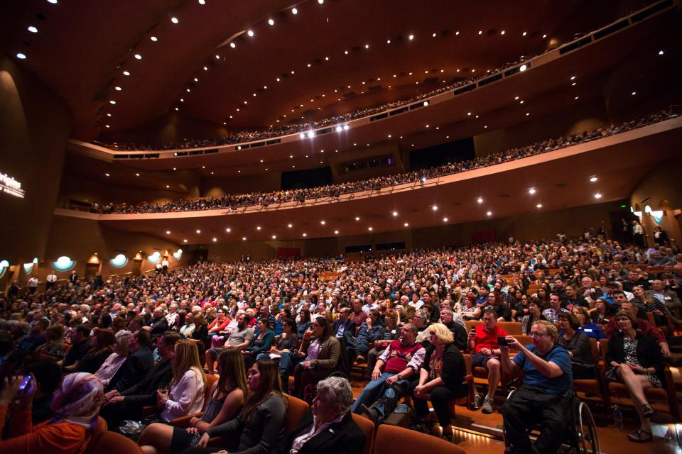 A crowd at ASU Gammage